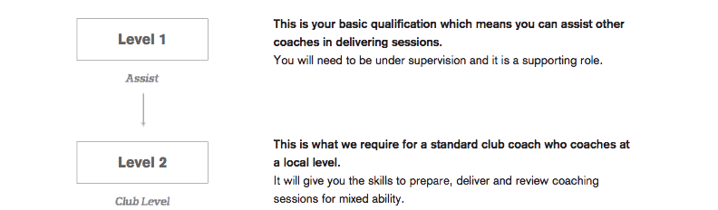 level 1 2 coaching